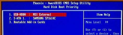 bios ayarları boot